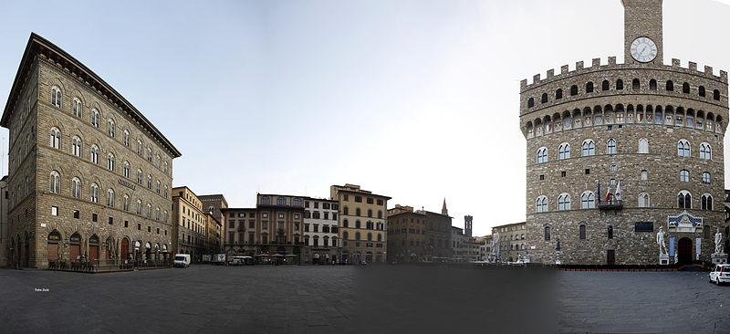 Piazza della Signoria, Florence (cretits: Jorge Juiz - Wikicommons)
