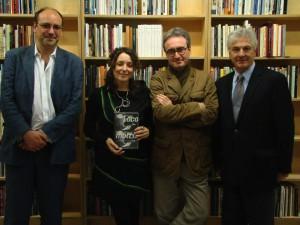 Andrea Raos, Jennifer Scappettone, Antonio Riccardi, Slivo Marchetti presenting Locomotrix.