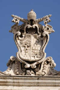 Papal Crest in St. Peter's Square