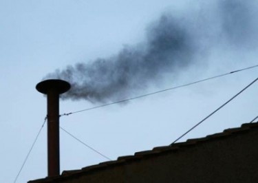black smoke from sistine chapel