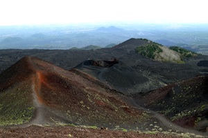 the etna from the top in sicily