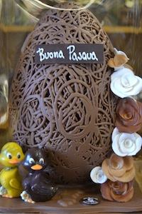 Chocolate egg for Easter in Italy