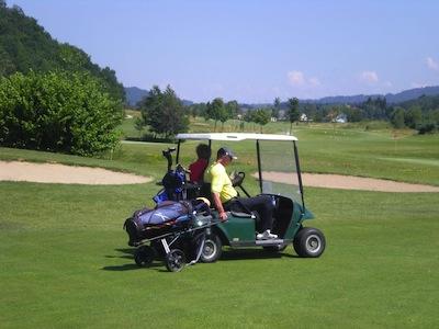 Enjoying a golfing day