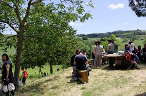 picnic in umbrian countryside