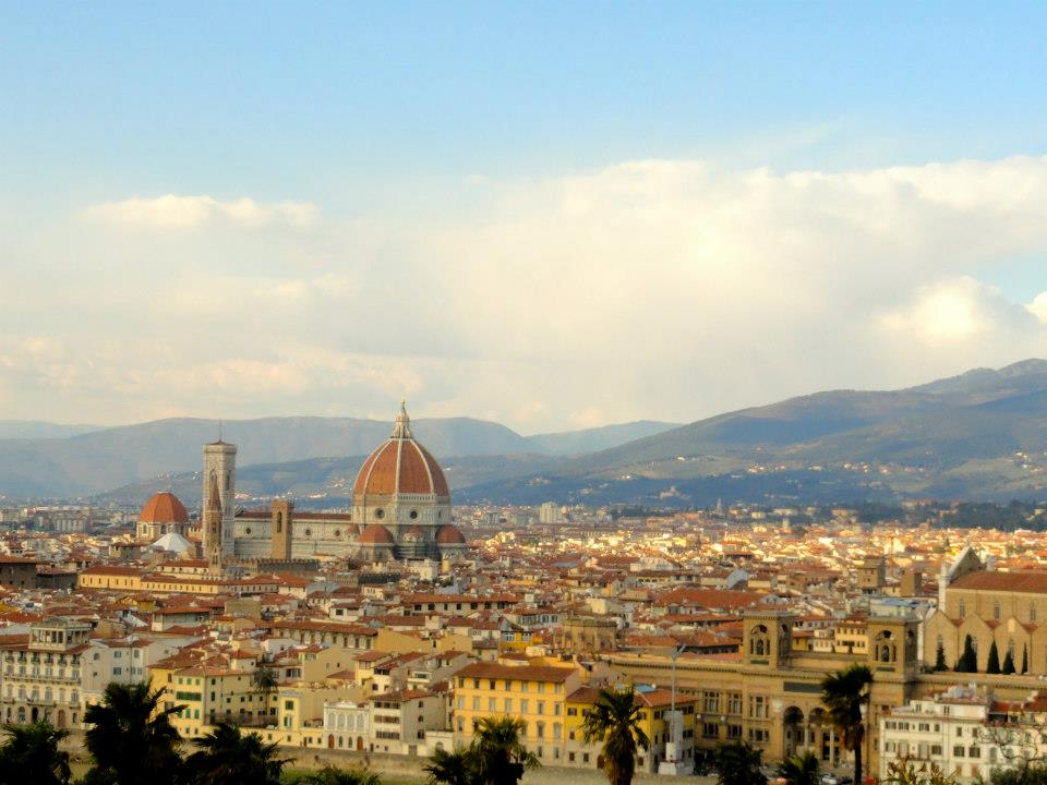 The beautiful view of Florence from Piazzale Michelangelo!
