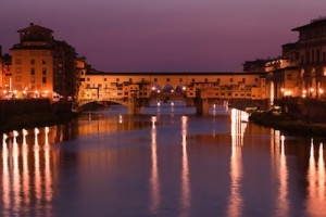 Ponte Vecchio at night in Florence