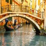 Bridges and gondola in Venice