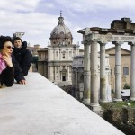Family in Rome traveling