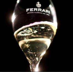 Glass of Ferrari bollicine