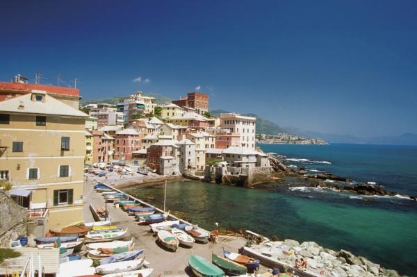 Boccadasse Beach Harbor, Genoa