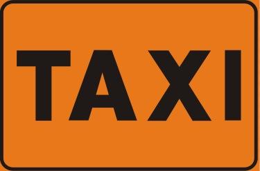 orange Italian taxi sign