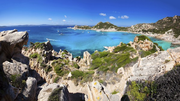 Costa Smeralda is located in northern Sardinia