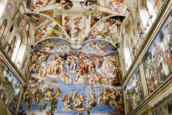 The Sistine Chapel ceiling is a cornerstone work of High Renaissance art