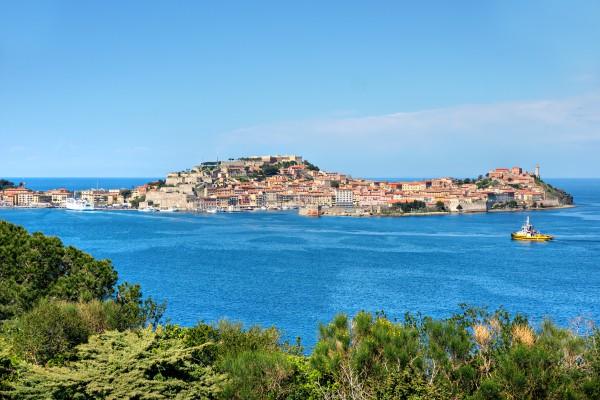 Elba is a Mediterranean island in Tuscany