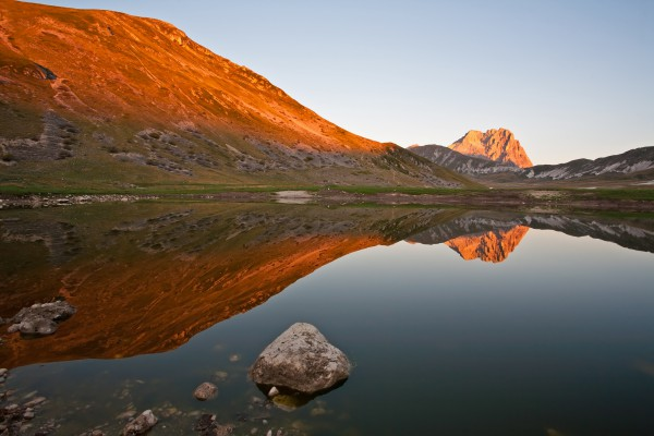 Gran Sasso d'Italia is a mountain located in Abruzzo
