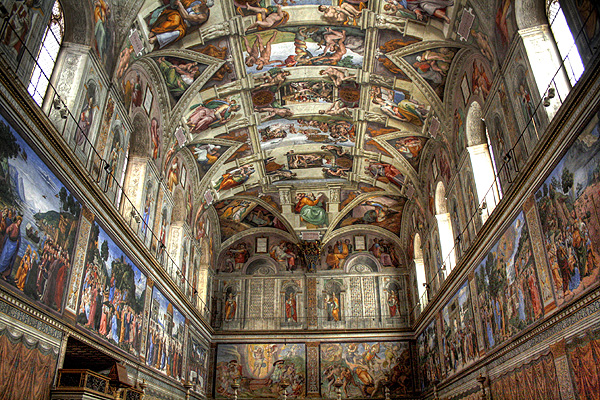 michelangelo sistine chapel Learn about the frescos painted on the ceiling of the chapel, the project which took michelangelo four years to complete and contains over 3,000 figures.
