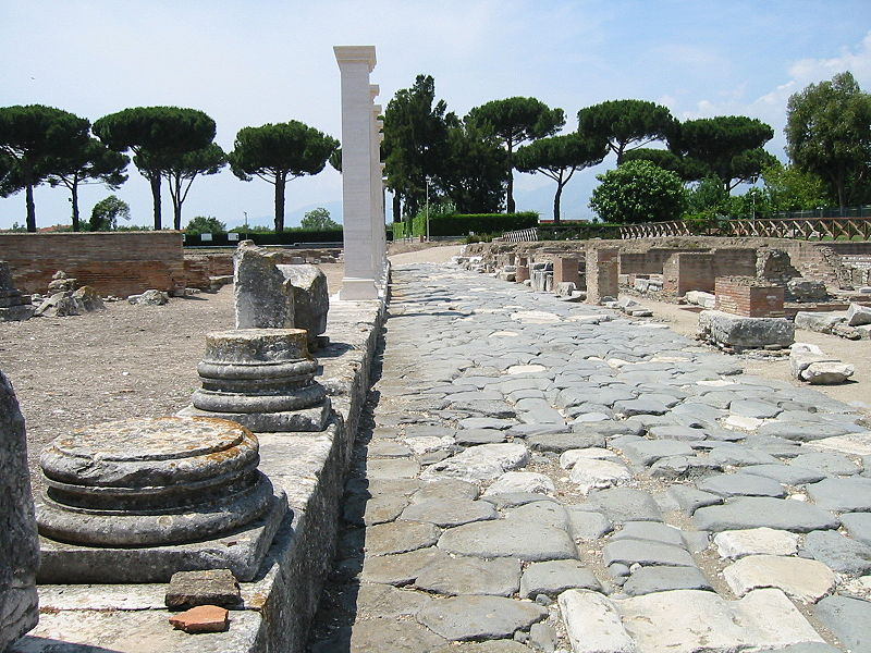 Via Appia within the ancient city of Minturno