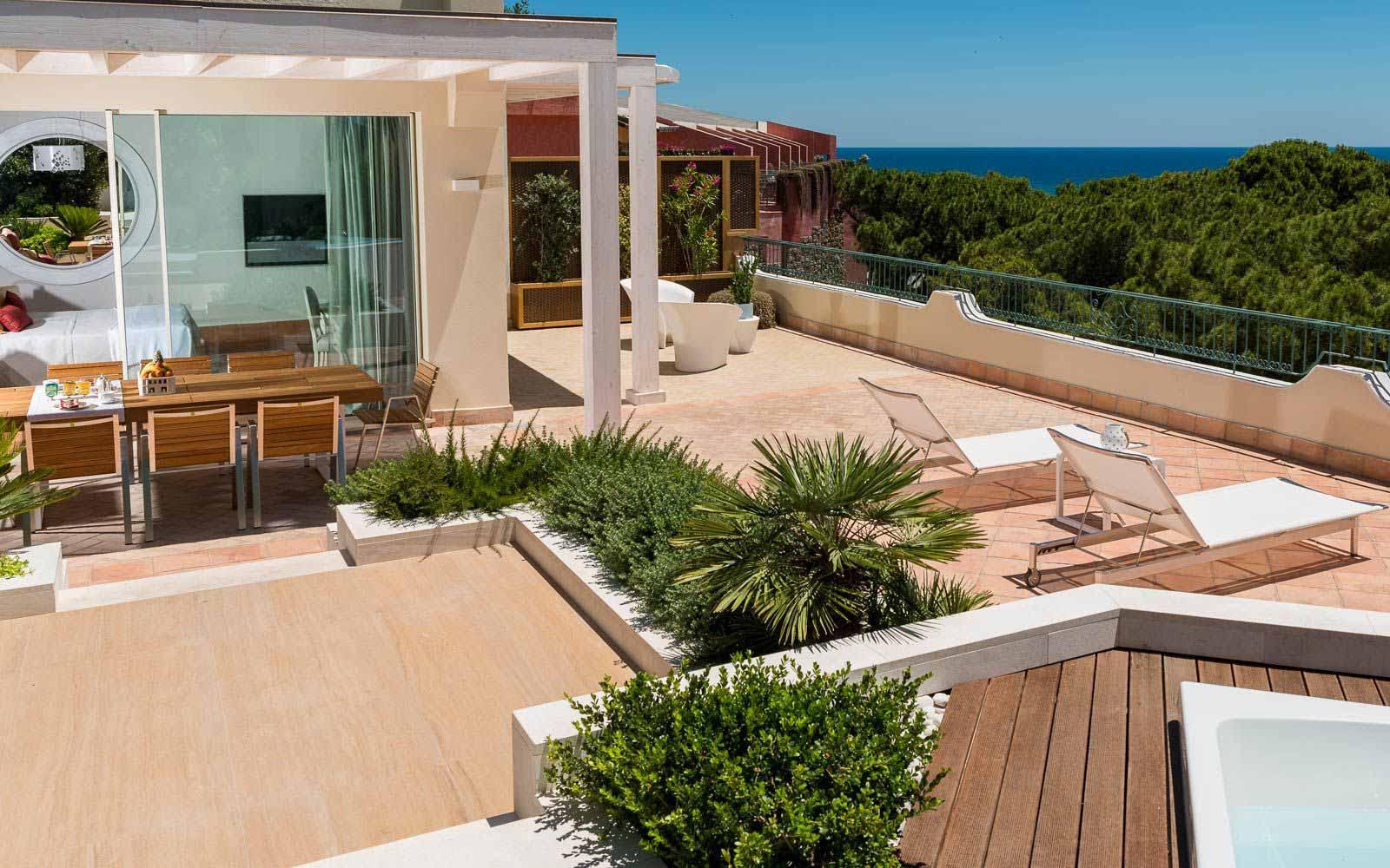 Hotel Castello Presidential Suite outdoor at Forte Village Resort