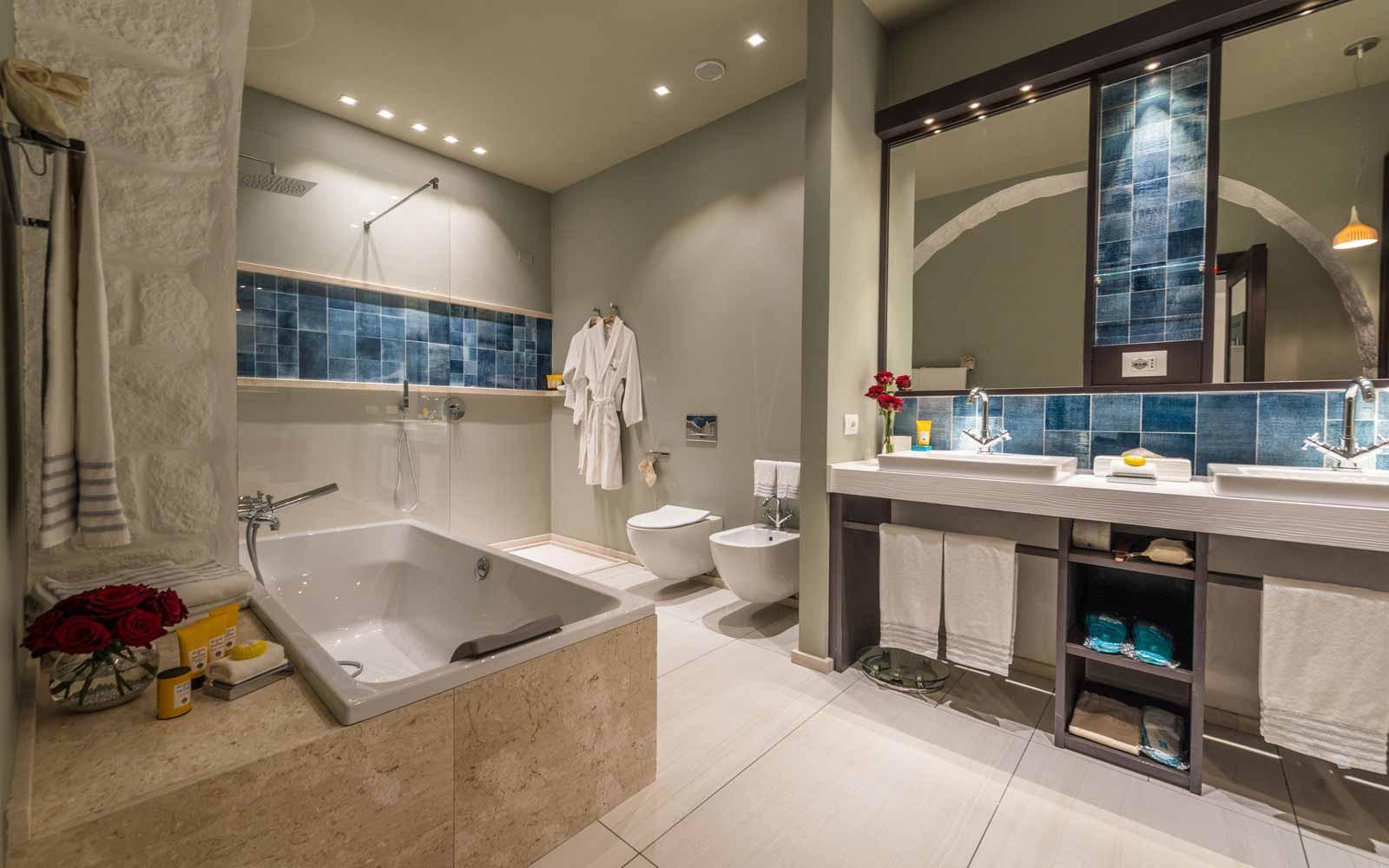 Bathroom at Forte Village Villa del Parco