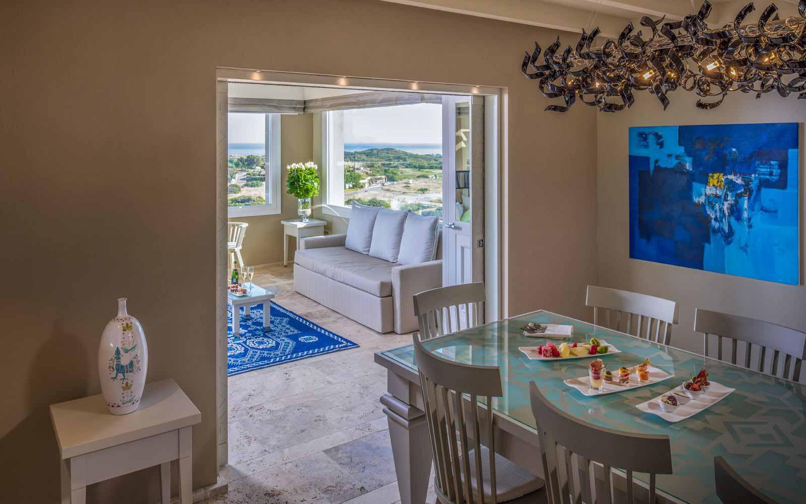 Luxury Panorama Suite Living Room at Hotel Laguna