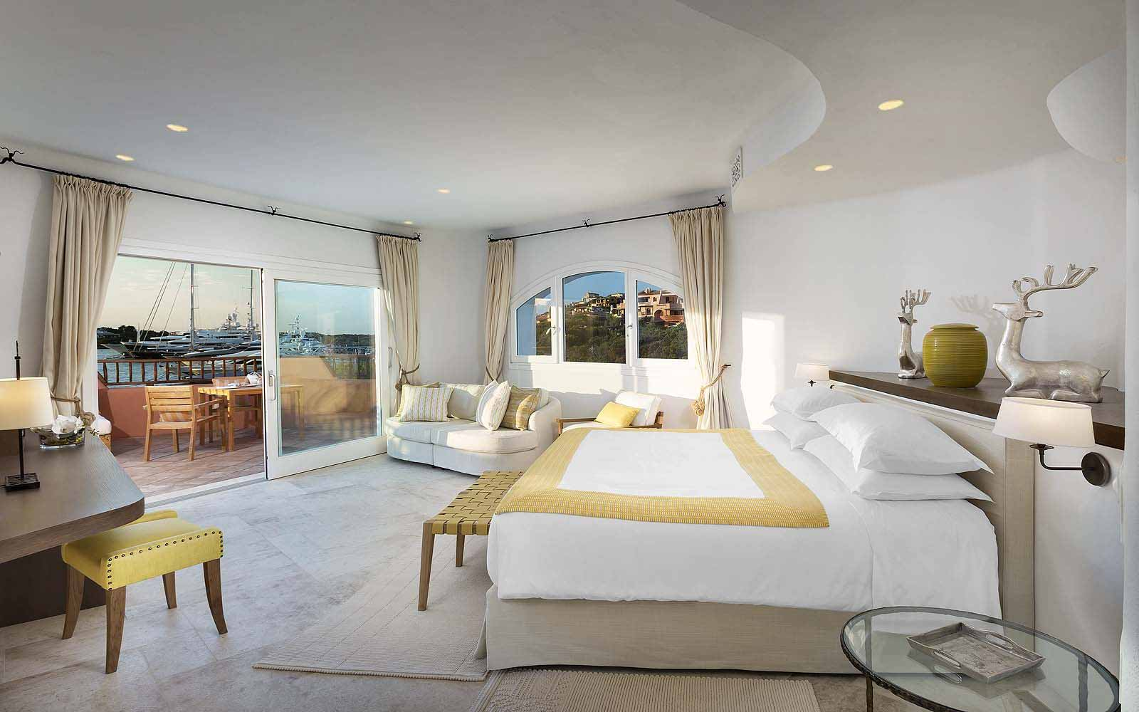 Master bedroom of the Presidential Suite at the Hotel Cervo