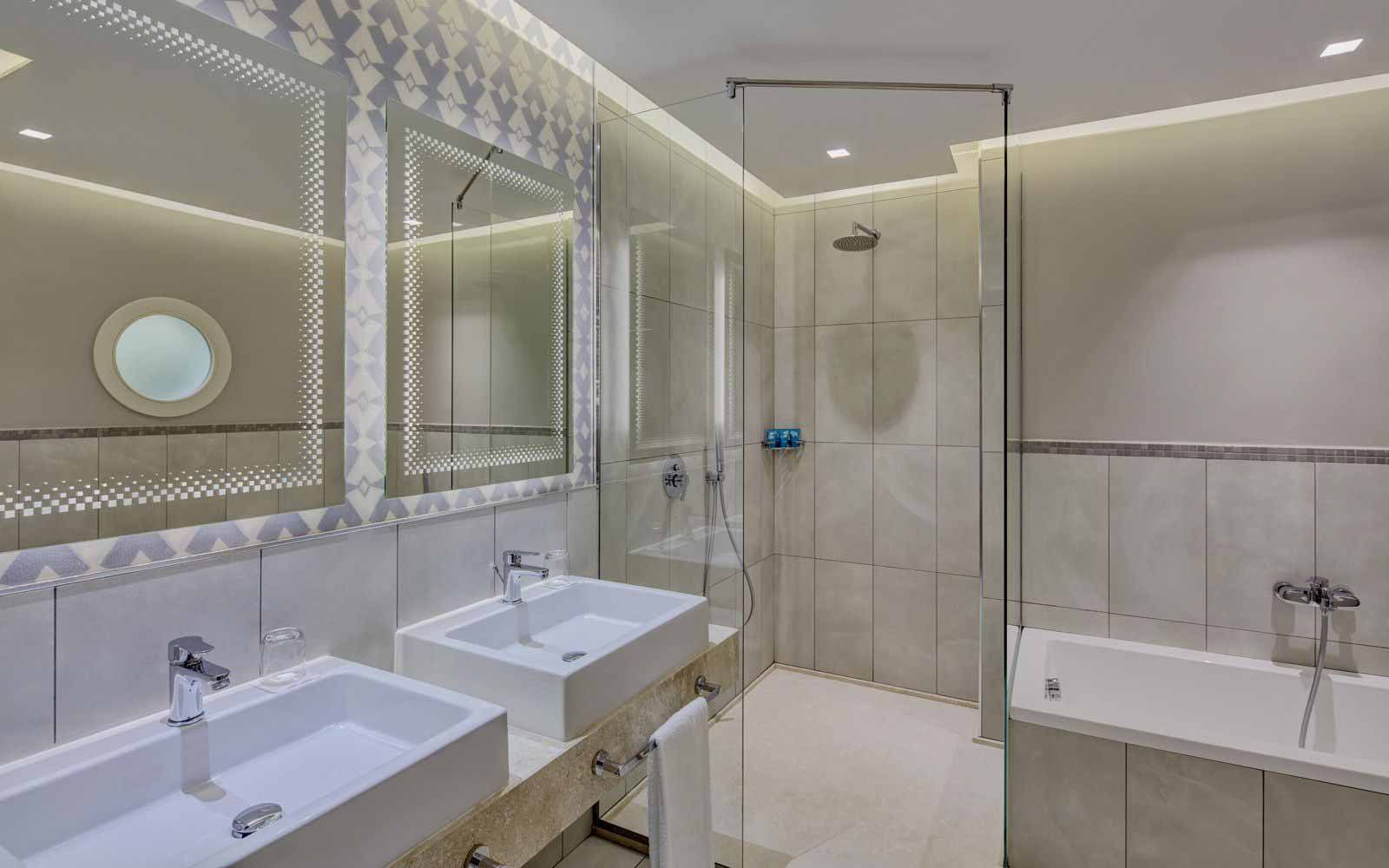 Hotel pineta bathroom at Forte Village Resort