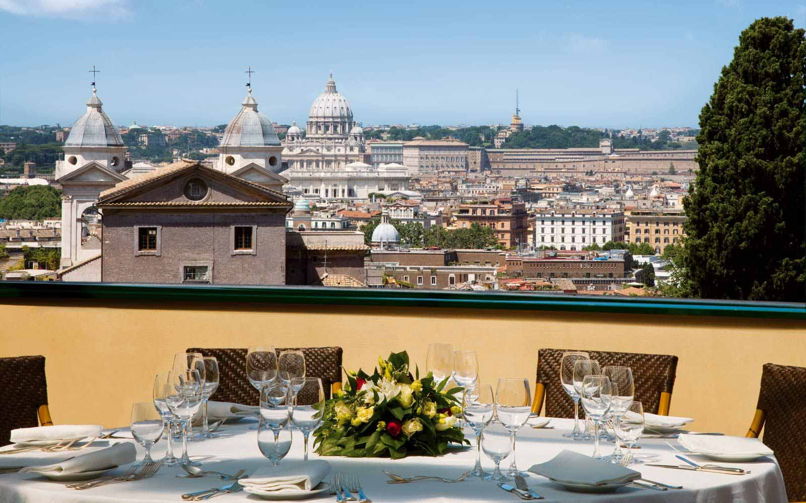 Rooftop dining at Hotel Eden
