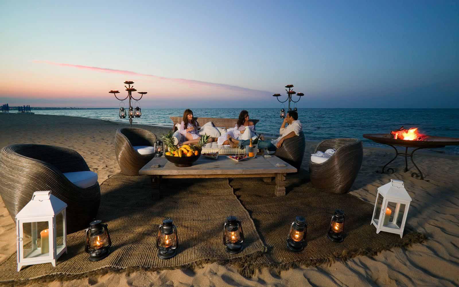 Beach lounge at Masseria Torre Coccaro