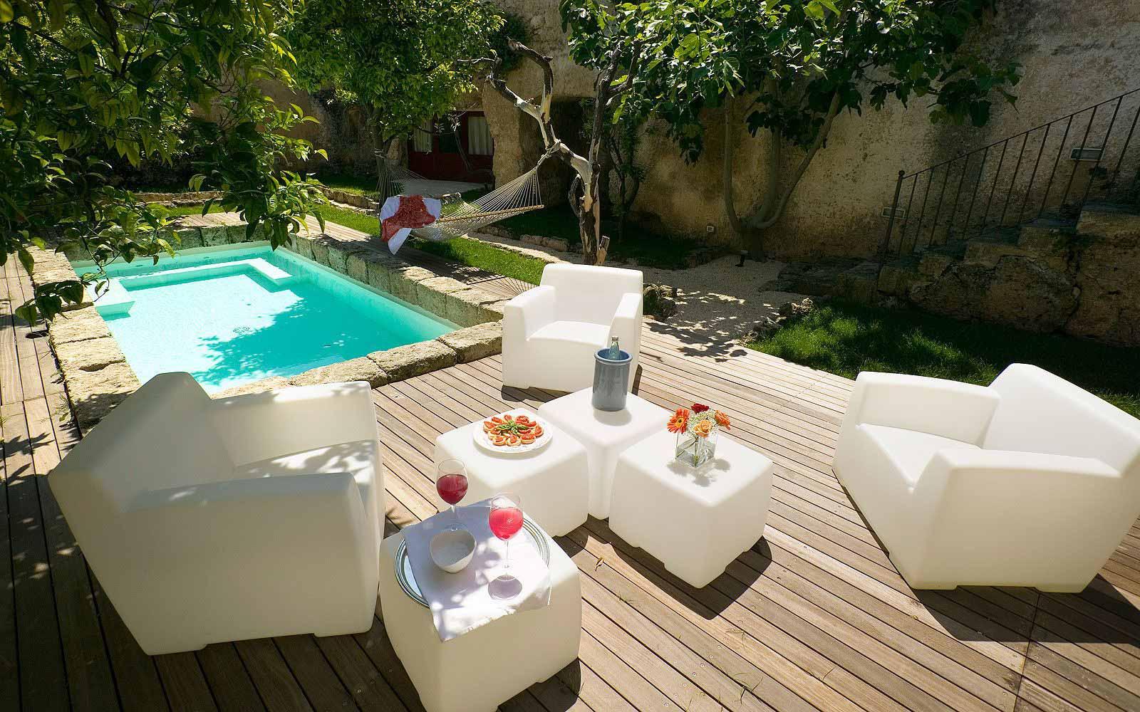 Orange garden suite private pool at Masseria Torre Coccaro