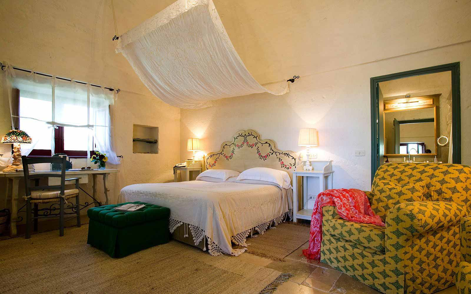 Deluxe room at Masseria Torre Coccaro