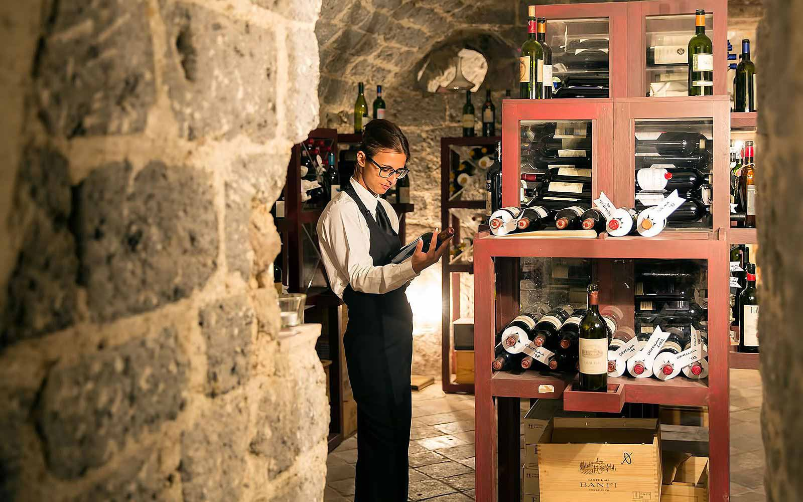 Wine cellar at Hotel Bellevue Syrene