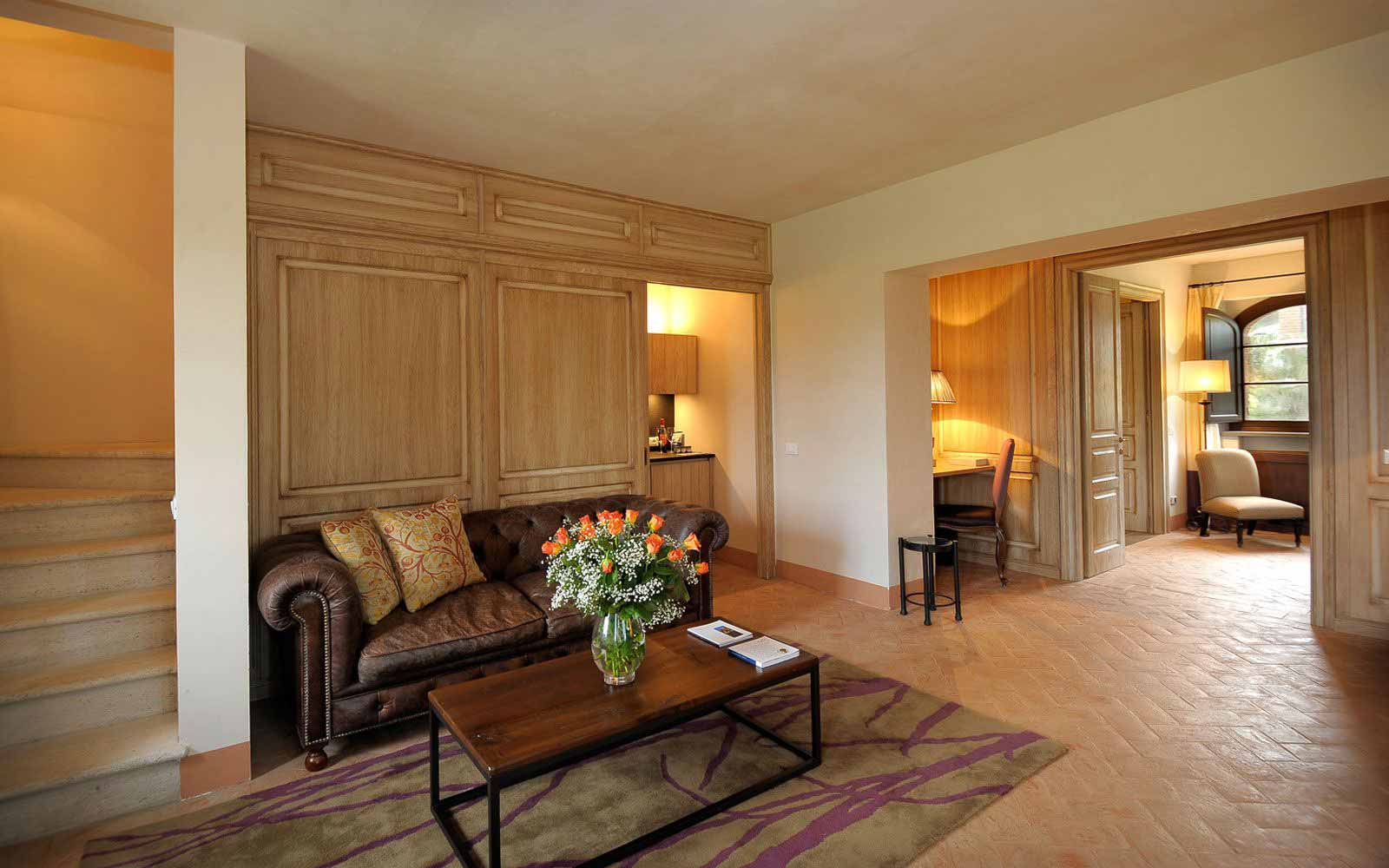Living area at Castel Monastero Tuscan Resort & Spa