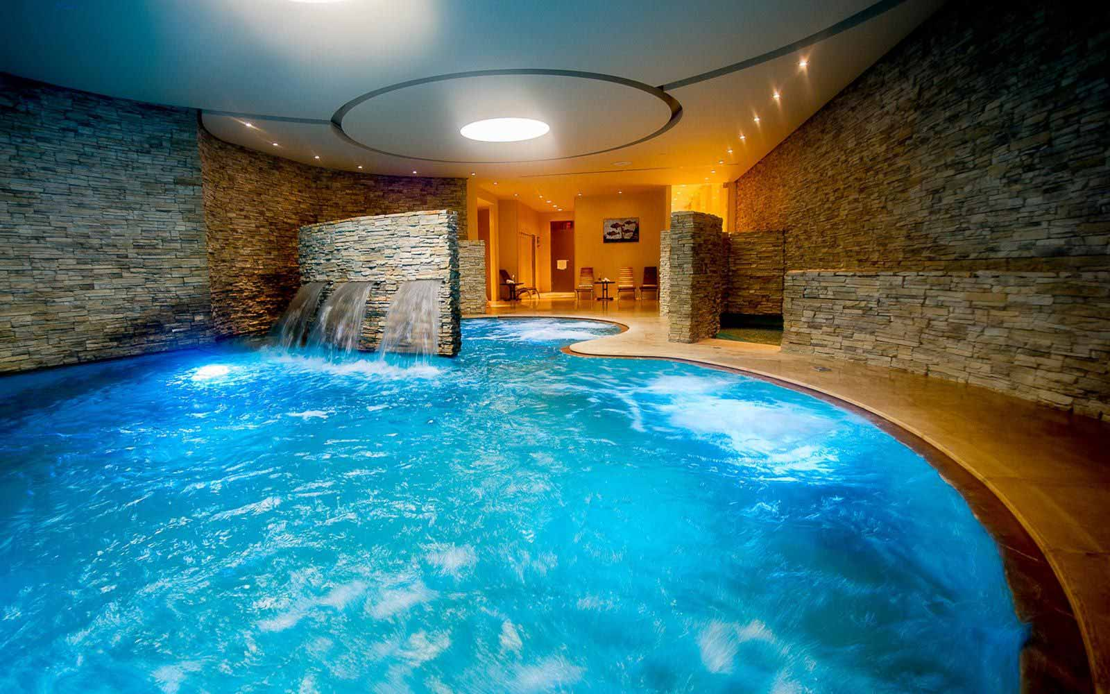 Spa's infinity swimming pool at Castel Monastero Tuscan Resort & Spa
