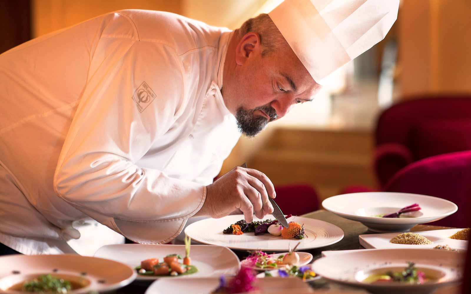 Chef at work at the Fonteverde