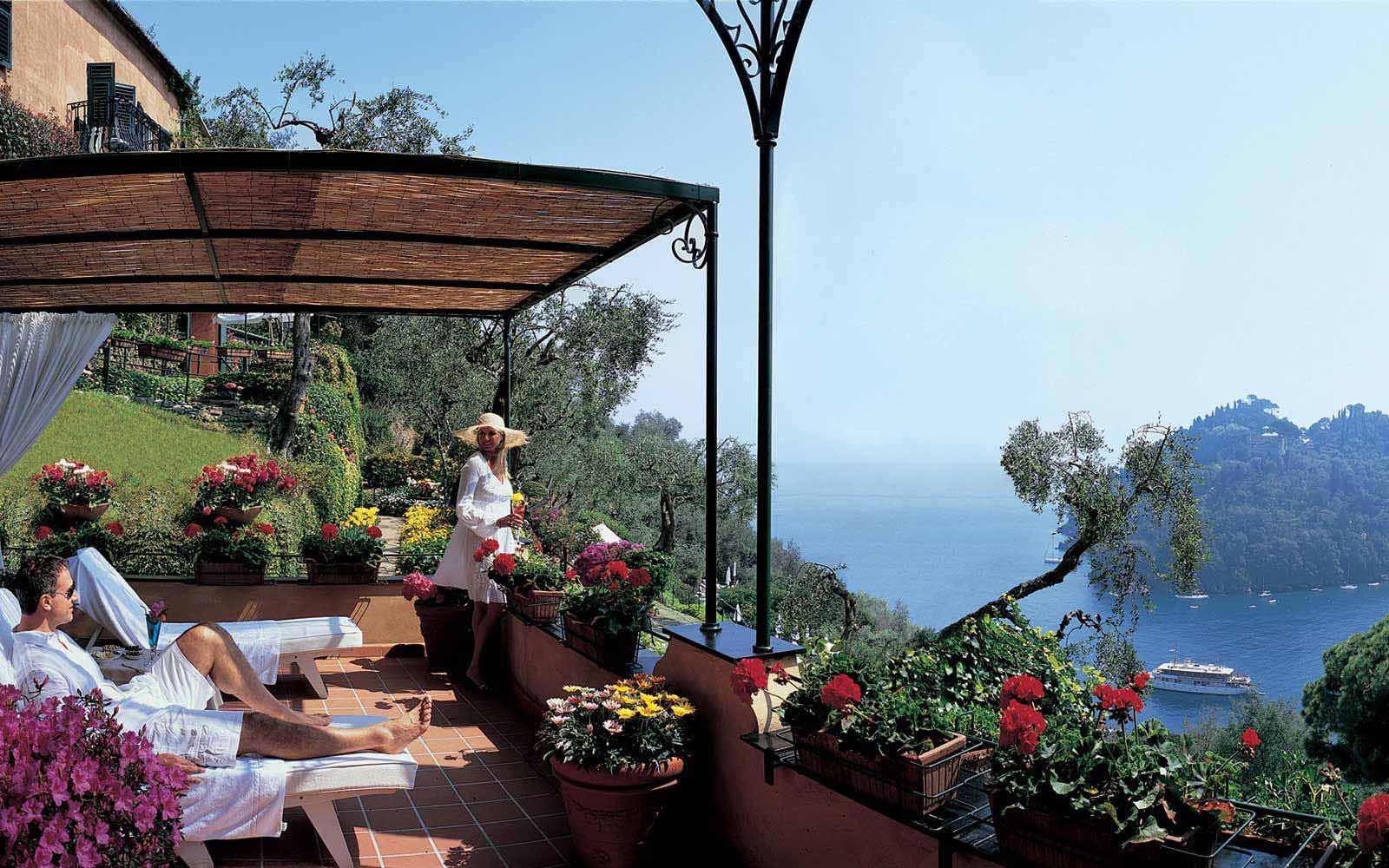 Terrace at Belmond Hotel Splendido & Splendido Mare