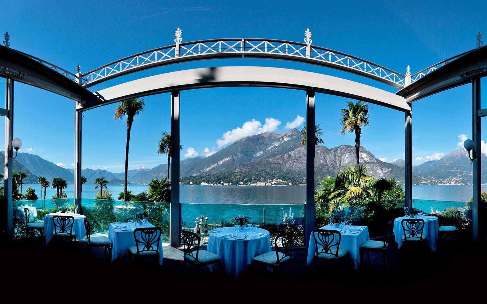 View from the outside terrace at Grand Hotel Villa Serbelloni