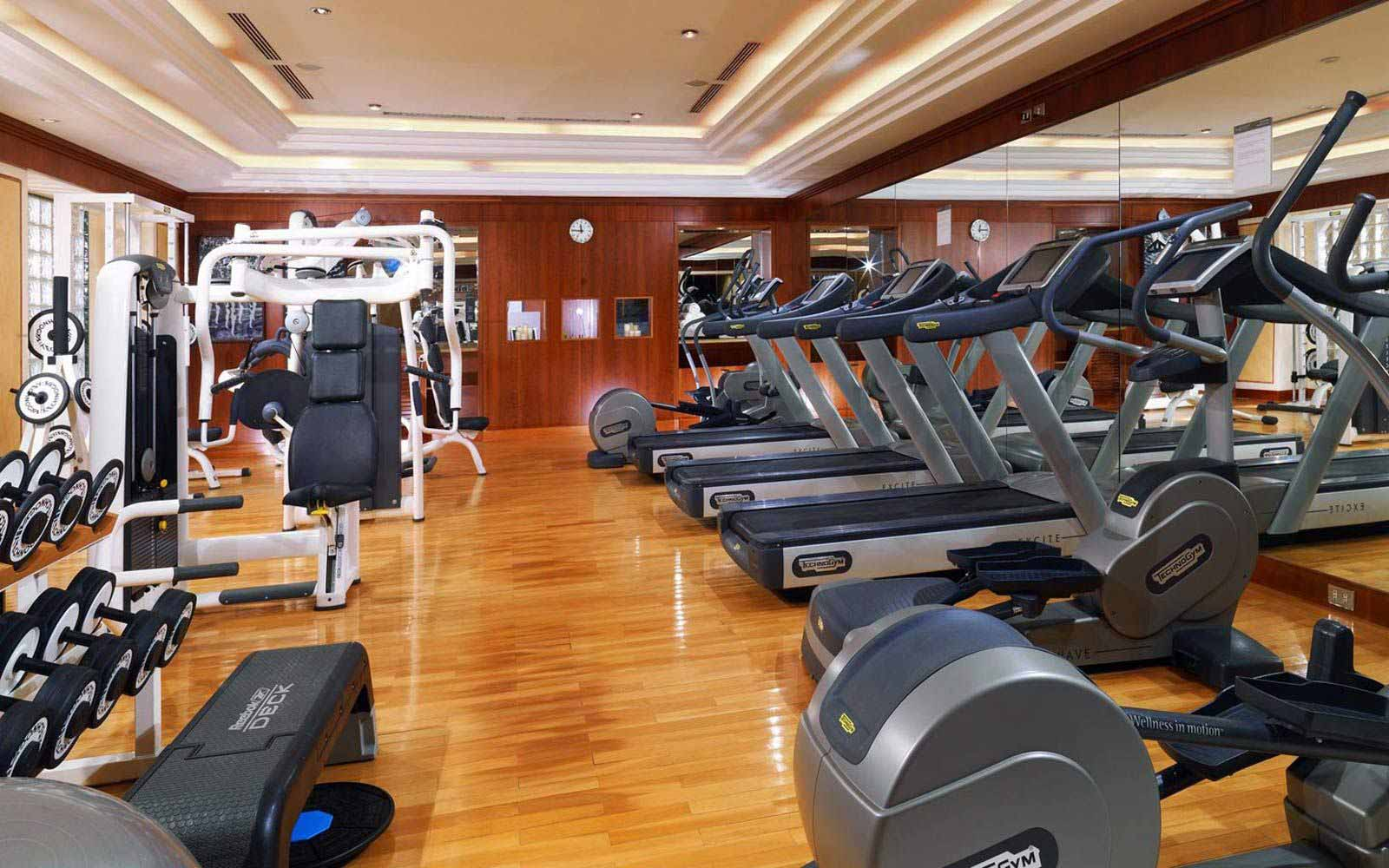 Fitness room at The Westin Excelsior