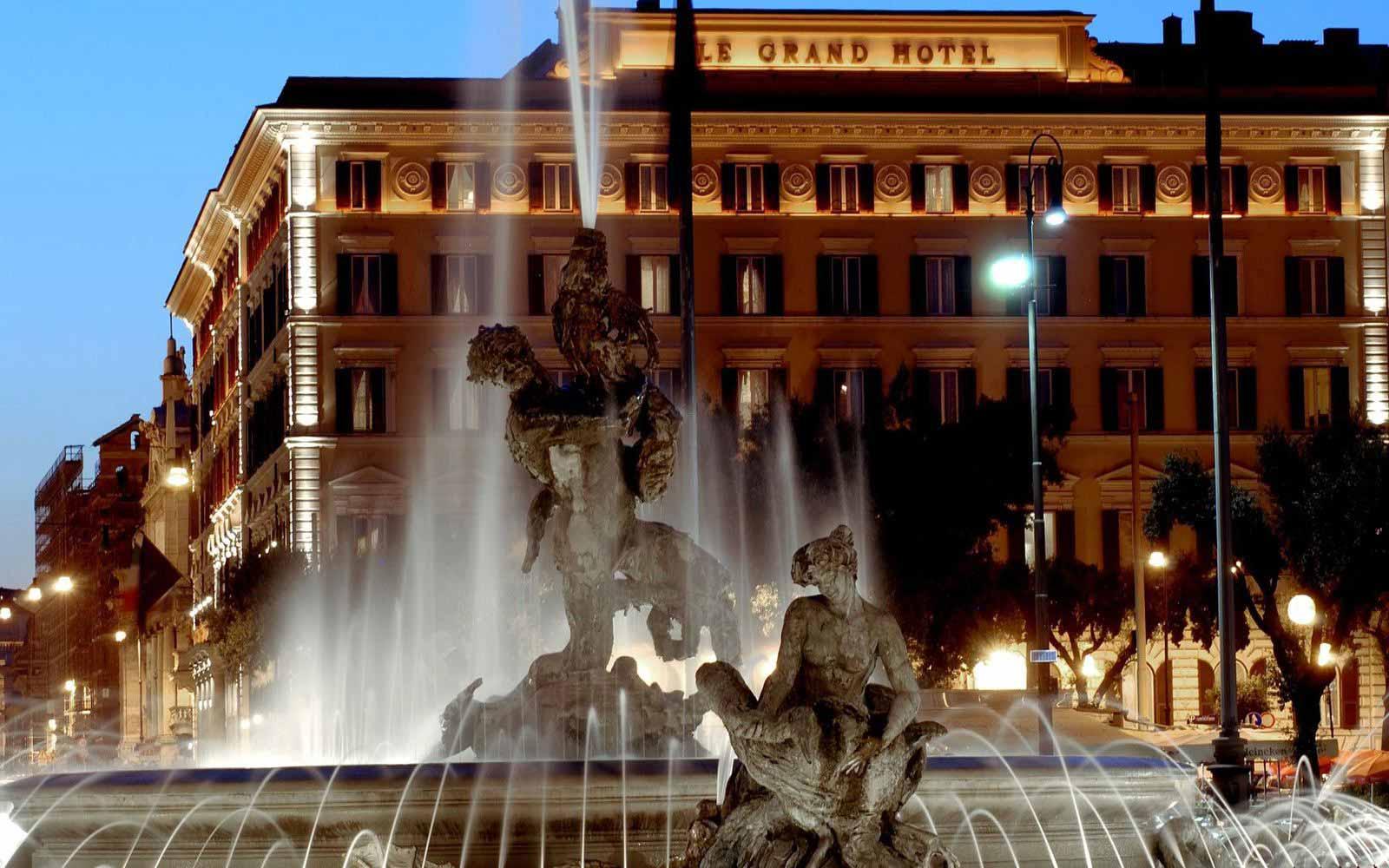Outside St. Regis Grand Hotel