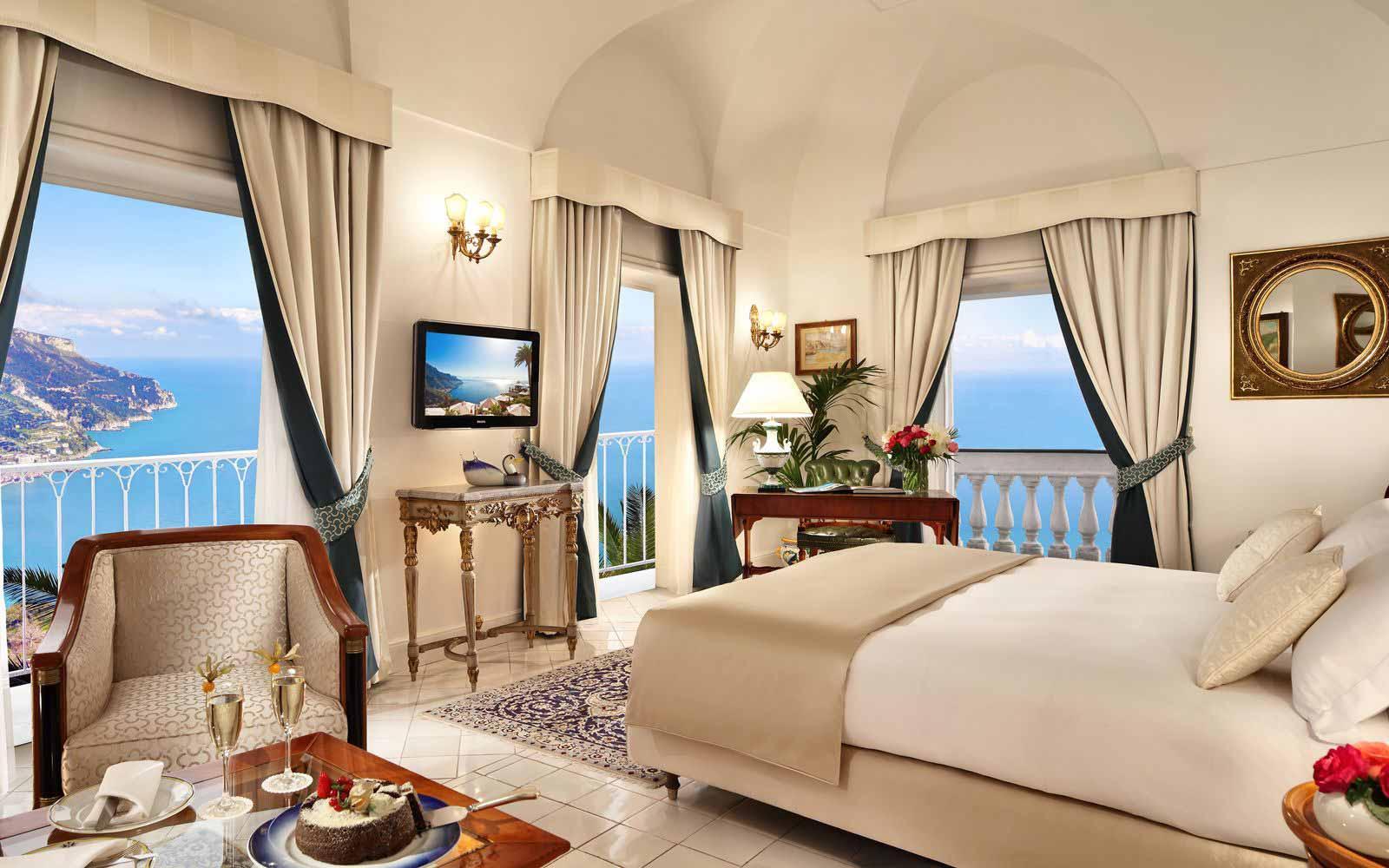Junior Suite Room sea View at Palazzo Avino