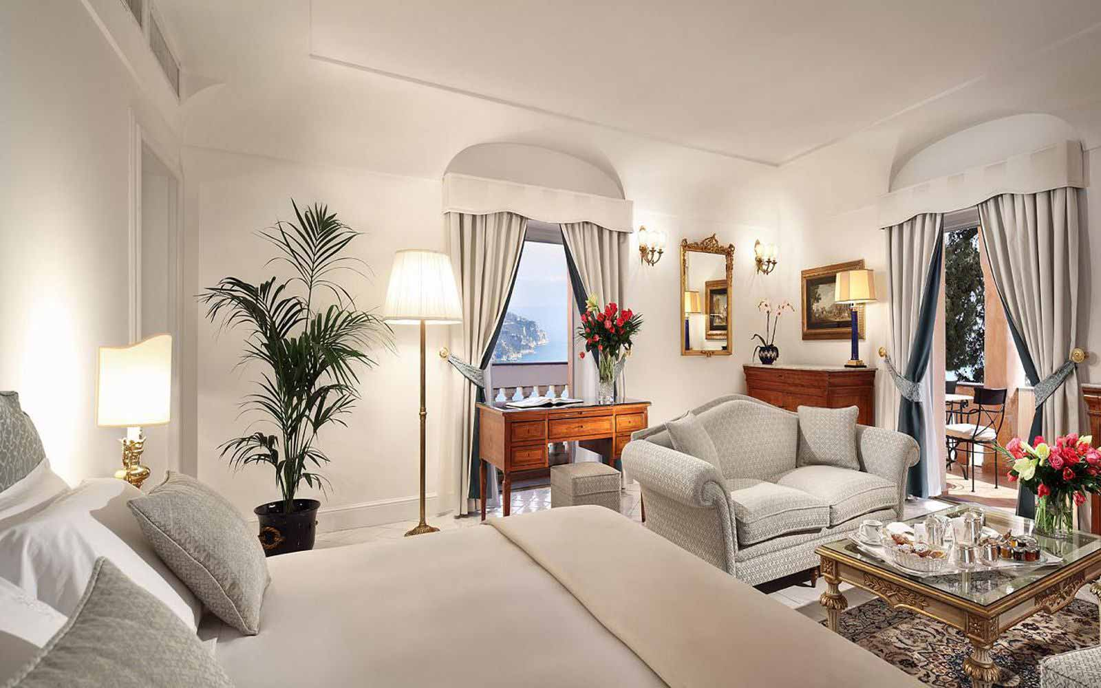 Deluxe Room with Sea View at Palazzo Avino