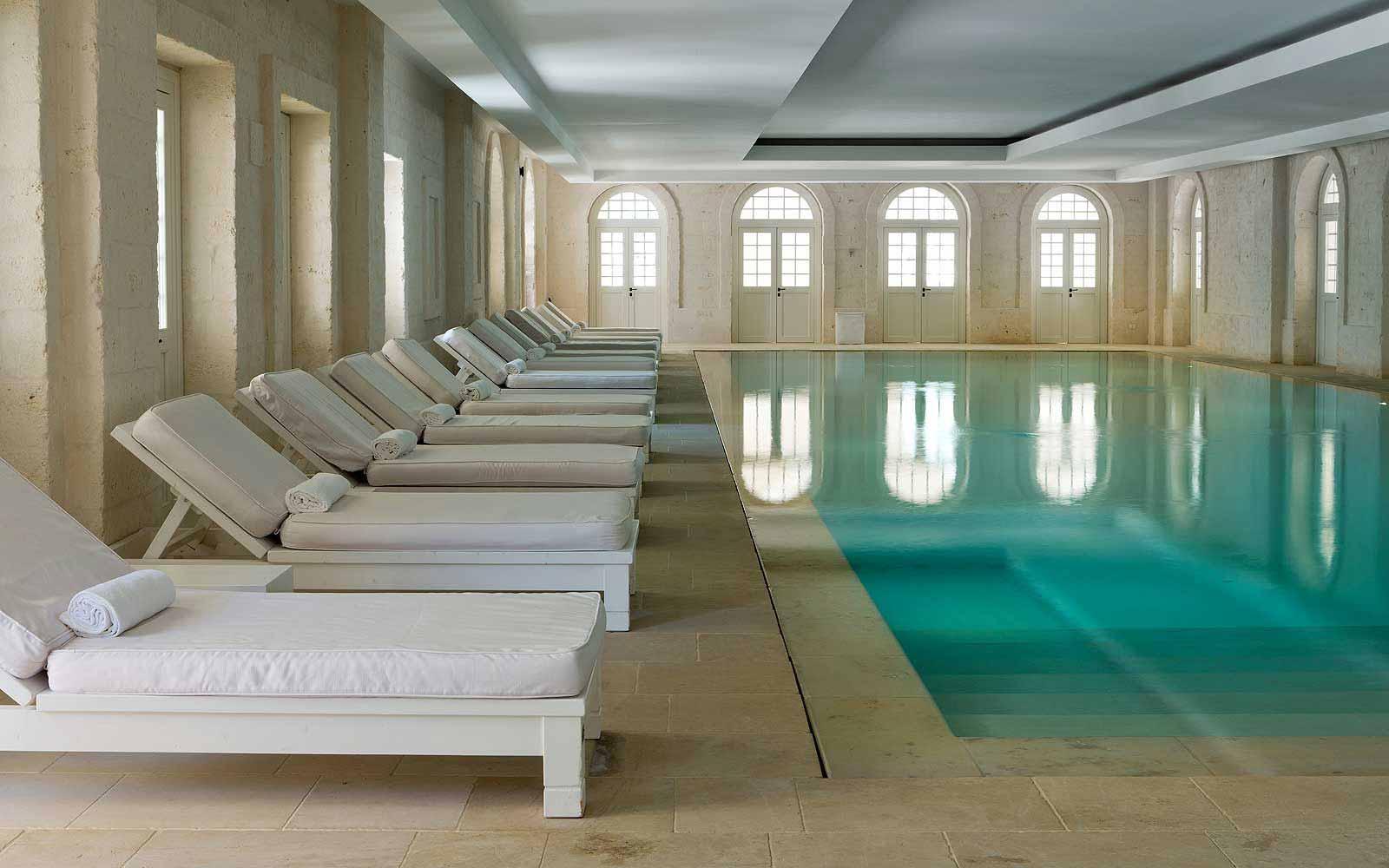 Indoor swimming pool at the Borgo Egnazia