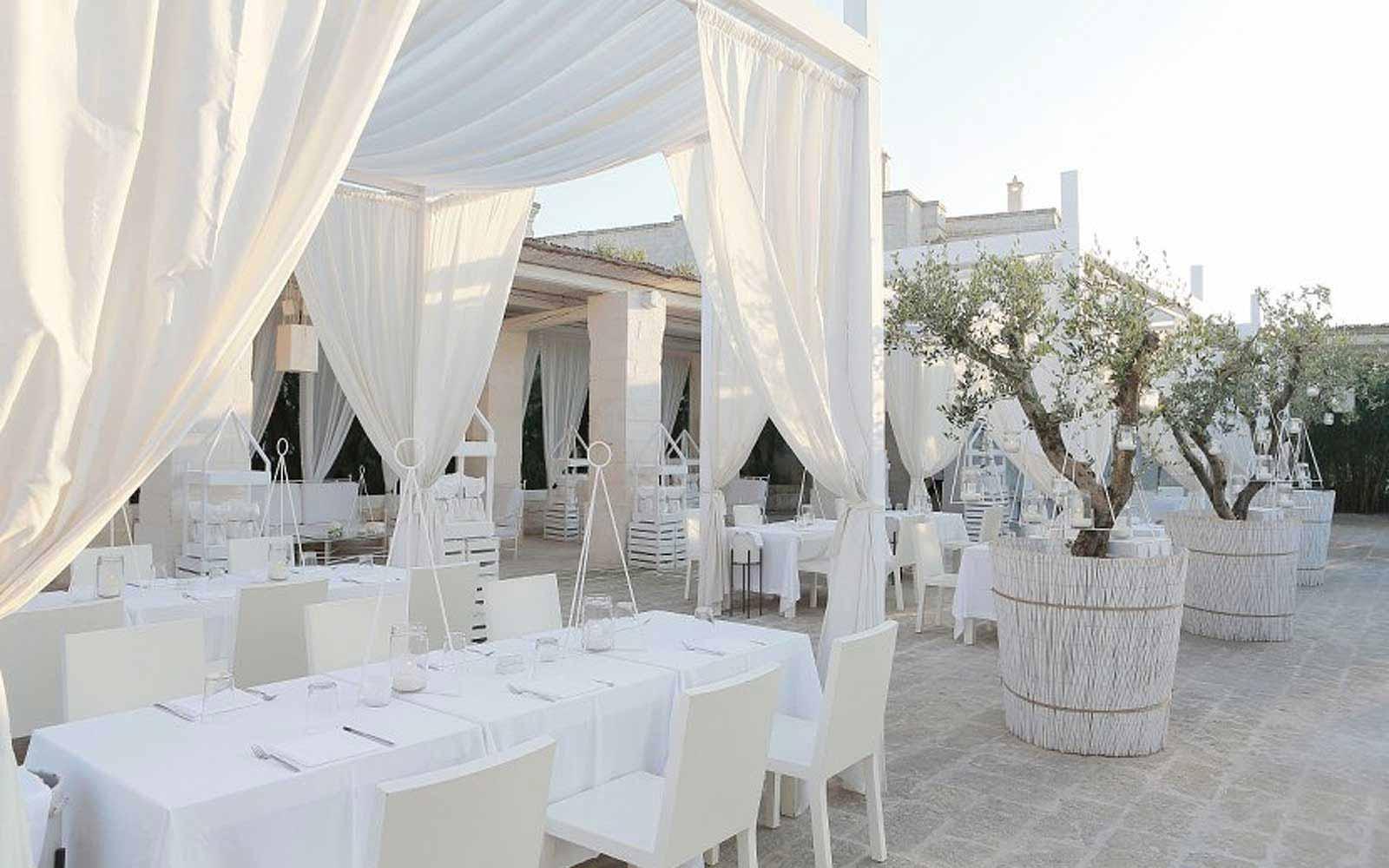 Il Colonnato Restaurant at the Borgo Egnazia