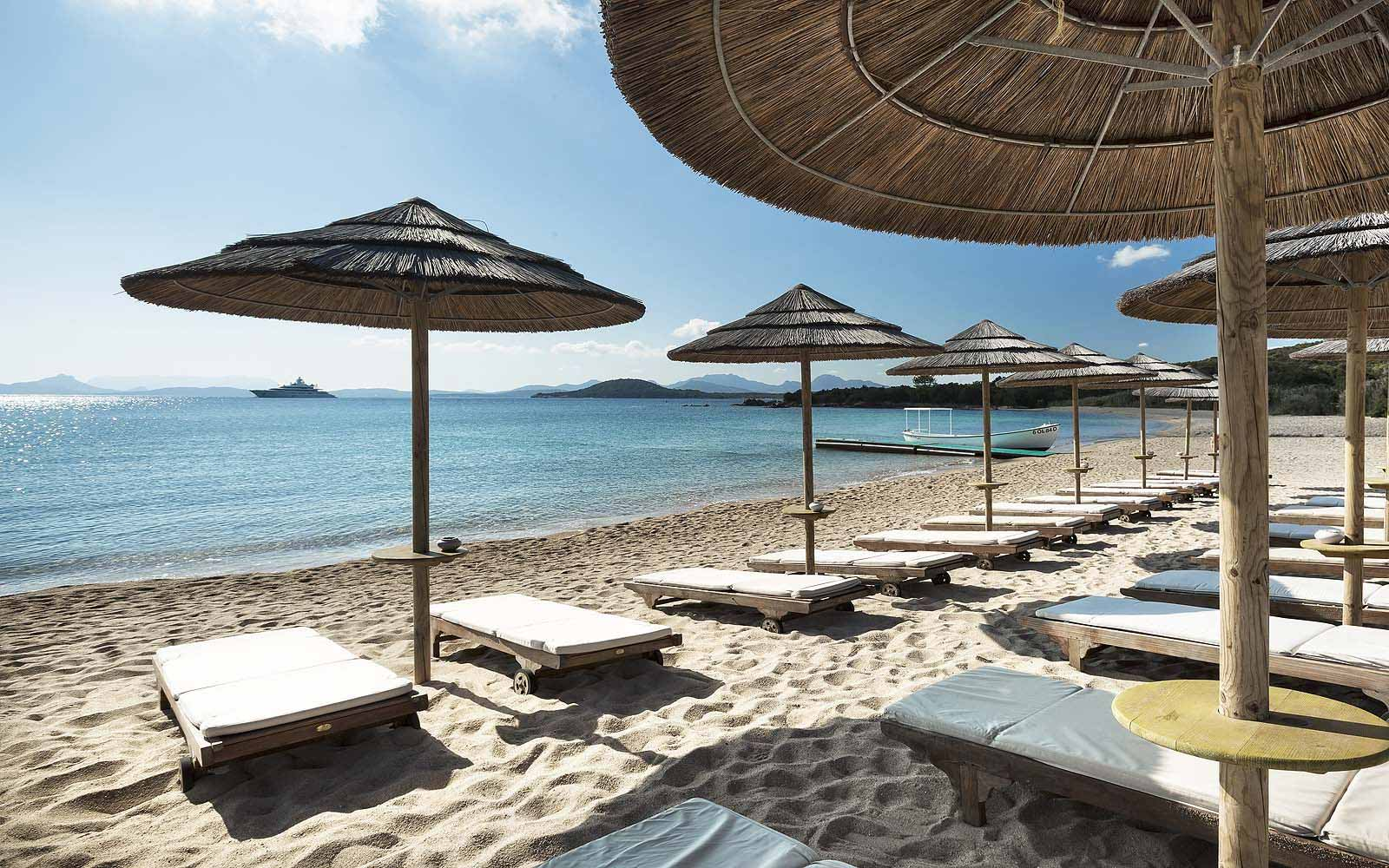 Beach at the Hotel Cala di Volpe