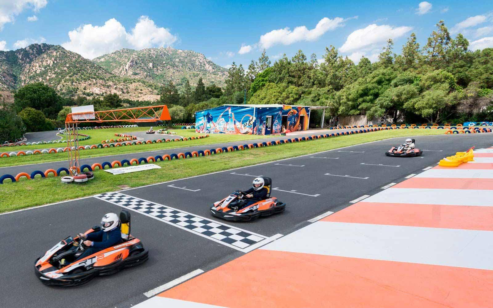 Go-karting at the Forte Village Resort