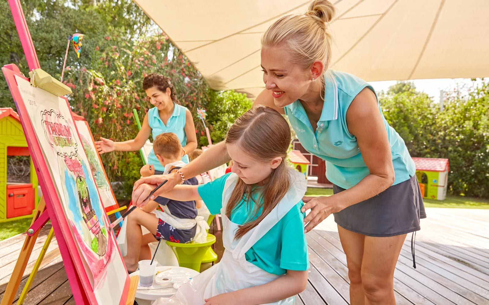 Kids club at the Forte Village Resort