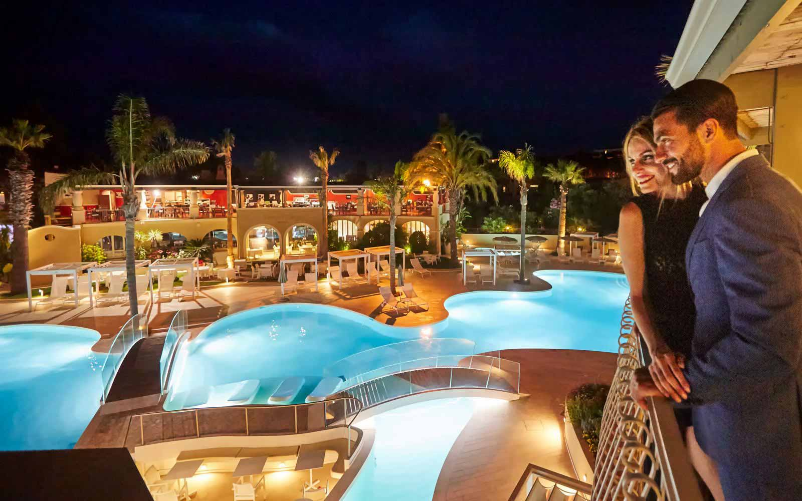 Night atmosphere at the Forte Village Resort