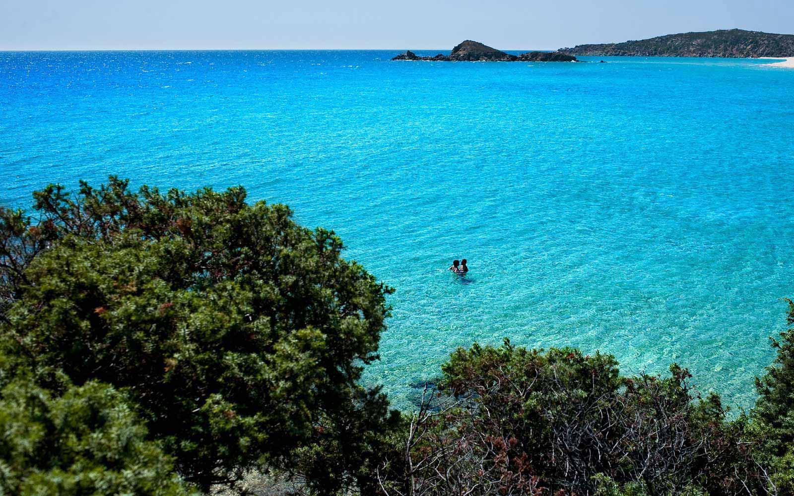 Beautiful sea at the Chia Laguna