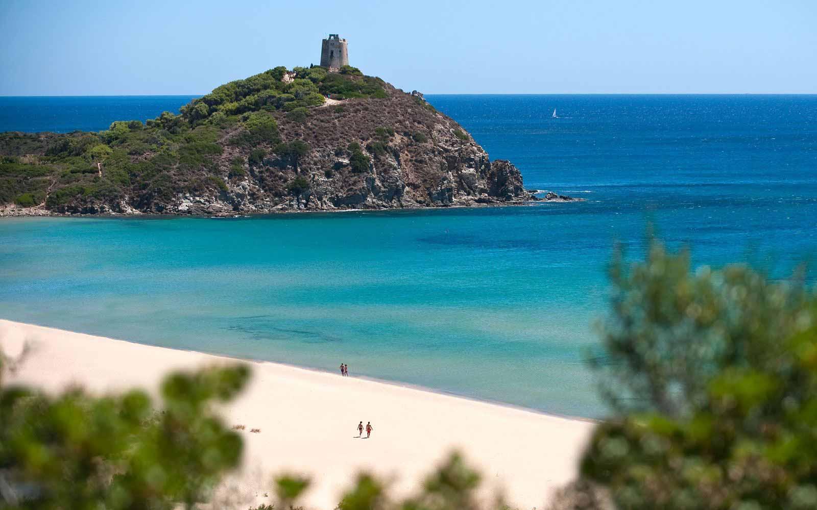 Panoramic view from Chia Laguna
