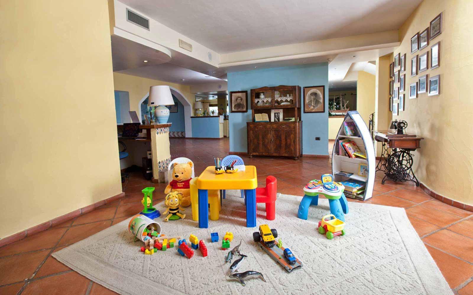 Children's play area at Hotel La Funtana