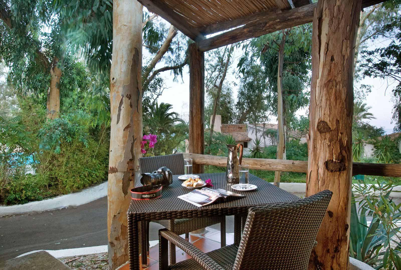 Cottage patio at Arbatax Park Resort - Hotel Cottage